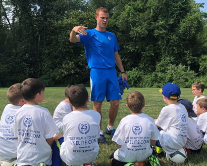 UK Elite Youth Soccer Camp Participants and Coach